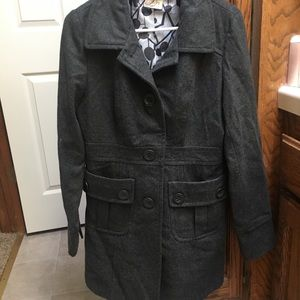 Tulle Charcoal Gray Wool Peacoat XL